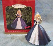 1999 Millennium Princess Barbie Doll Hallmark Keepsake Ornament Handcraft/Sculp