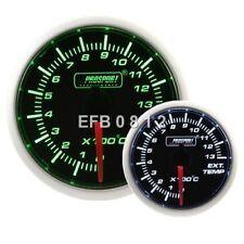 MOTORE passo-passo 52 mm PROSPORT Verde/Bianco/temperatura dei gas di scarico EGT Gauge