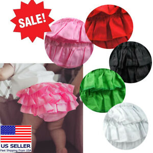 Red Summerwindy Baby Girl Ruffle Panties Bloomers Diaper Cover S