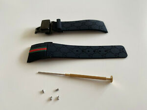 New Replacement for I Gucci digital YA114207 YA114229 Rubber watch strap band