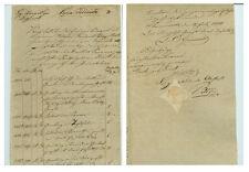 ANTIK Alte Handschrift Urkunde Urkundenkopie Sömmerda 1821