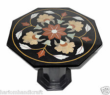 """23.5"""" Marble Octagon Side Coffee Table Top With Stand Inlay Gem Home Decor H773A"""