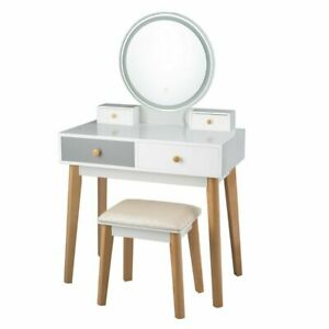 Seraphina Vanity Set with Stool and Mirror A1
