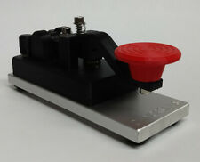 Black-Red Camelback Morse Code Key W/ Aluminum Base