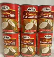 6  Grace Jamaican Coconut Milk 13.5 Oz.Can