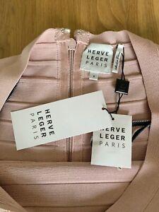 Herve Leger Kleid, rosa, neu, mit allen Etiketten