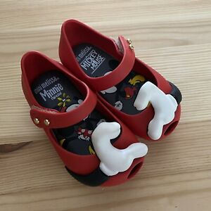 NWOT MINI MELISSA Disney Red Heart Hands Flats Shoes Size 5 Toddler