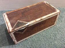 Antique Vintage Wooden Cigar Box ASPASIA - FLOR FINA Collectable GERMANY.