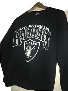 VINTAGE 90s LA RAIDERS Sweatshirt NWA eazy E Shield Logo Hip Hop Rap USA made