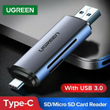 UGREEN USB 3.0 Card Reader USB C OTG Dual Slot Memory Card Adapter for MacBook