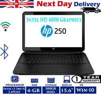 "HP 250 G2 15.6"" Laptop Intel Core i3 3rd-Gen 2.4Ghz 4GB RAM 500GB HDD Windows 10"