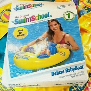 Vintage 1997 Swim School deluxe BabyBoat by Aqua Leisure fits babies 6-18