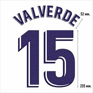 Valverde 15. Real Madrid Home football shirt 2020 2021 FLEX NAMESET NAME SET