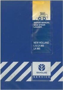 New Holland Skid Steer Loader L865 LX865 LX885 Workshop Service Manual