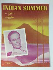 Indian Summer    Sheet Music    Featured by Art Kassel    1939