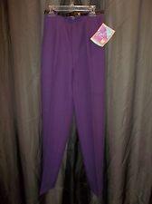 Vtg, 80s LEVI'S BEND OVER Purple  SLiMMiNG DRESS SLACKS PANTS Women's Size 8