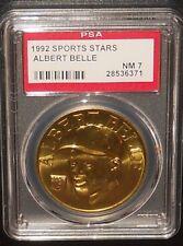 PSA 7 NM 7 - Albert Belle 1992 Sport Stars Baseball Coins Cleveland Indians