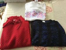 Casual Knit Regular Size Vintage Tops & Shirts for Women
