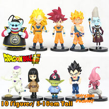 10x Anime Dragon Ball Z DBZ Saiyan Son Goku Frieza Vegeta Action Figure Kid Toy