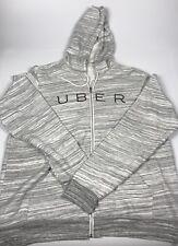UBER Driver Gray Full Zip Sweatshirt Jacket Ride Sharing 2XL XXL