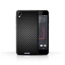 STUFF4 Case/Cover for HTC Desire 825/Carbon Fibre Effect/Pattern/Grey