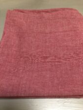WOOLRICH RED CHAMBRAY QUEEN SHEET 100% COTTON