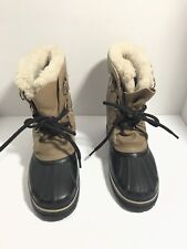 Sorel Boots Size 5 Black Beige Winter snow boots unisex women and men