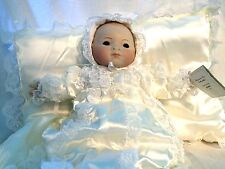 "Francine Cee Aimee JDK Repro 20"" Porcelain Baby Doll LE #89 Christening Gown NIB"