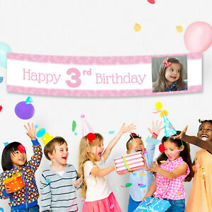 3rd Birthday Fabric Party Banner Birthday Personalised Decorations Customised