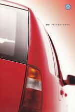 VW Volkswagen POLO VARIANT Trend Comfort Highline Prospekt Brochure 1999 78