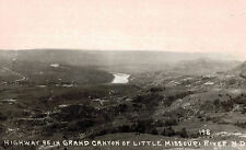 RPPC,Grand Canyon of the Little Missouri River,N.D.Highway 85,Pearson Photo,1929