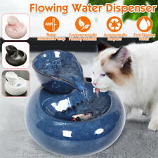 Ceramic Automatic Electric Pet Cat Dog Water Dispenser Fountain Bowl USB/US Plug