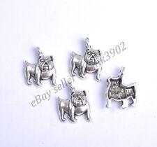 10pcs Tibetan Silver Dog Charm Pendants 18X23MM Z732