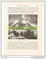THE CRATER OF MOUNT HEKLA, ICELAND, Book Illustration c1890