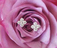 0.24tcw G/SI1 Genuine Diamond Stud Earrings in 18k 18ct White Gold by CTJ