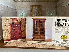 Vintage Dollhouse House of Miniatures Pair Chippendale Chest & Bookcase DIY Kits