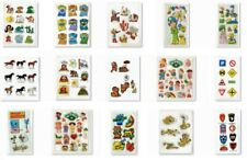 Choose One ~ Vintage Puffy Vinyl Full or Partial Sheet of Stickers