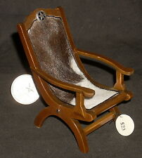 Miniature Cattle Baron Chair 1:12 Western #6049 Living Room Cowboy Ranch Texas