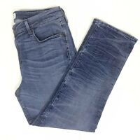Parker Smith Women's size 32 Blue White Wash Straight Jeans