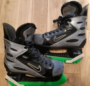 Nike Air Zoom Ice Hockey Skates Black / Silver US size 6.5 /EU 39 - Rare Vintage