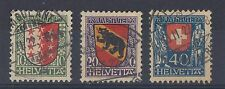 1921 Switzerland used Pro Juventute - childrens fund set of stamps (SG J17/19)