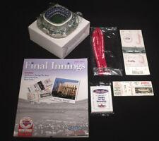 Phillies 1st & Last Game @ Veterans Stadium FULL TICKET PROGRAM CARDS SCULPTURE