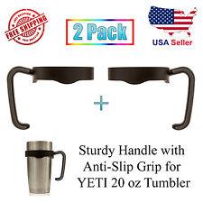 Handle for YETI 20 oz Rambler Tumbler RTIC Ozark Trail Anti-Slip Holder - 2 Pack