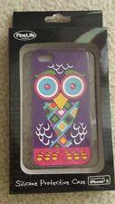 Purple Owl Silicone Protective Case Fun Colorful Design iPhone 5 NIP Fine Life