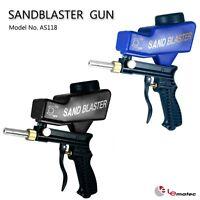LEMATEC Sandblasting Gun With Extra Nozzle Sandblaster Nozzle Gun Remove Rust