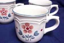 Brambleberry (3) Stoneware Cups Cumberland Mauve Flowers Japan Coffee Mugs