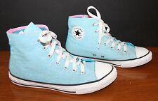 VTG 1980s Girl's Converse Chuck Taylor Canvas Sneakers Metallic Powder Blue 4 NM