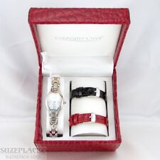 NEW COLDWATER CREEK LADIES WATCH WITH 2 EXTRA INTERCHANGEABLE LEATHER BANDS NWT