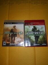 Ps3 Game Bundle - Call Of Duty Mw2 & Call Of Duty Modern Warfare ( Complete )
