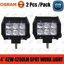 "6D 2X 4""inch 42W OSRAM Led Work Light Bar SPOT 4WD Off-road Fog Lamp SUV Pickup"